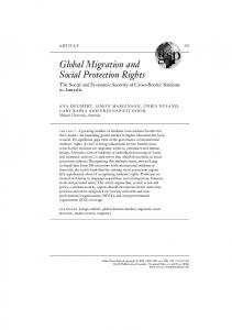Global Migration and Social Protection Rights - Melbourne CSHE