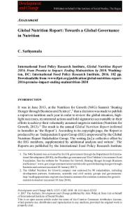 Global Nutrition Report: Towards a Global ... - Wiley Online Library