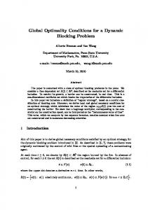 Global Optimality Conditions for a Dynamic ... - Semantic Scholar