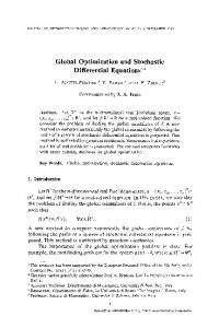 Global optimization and stochastic differential equations | SpringerLink