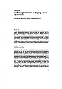 Global Optimization in Supply Chain Operations - Semantic Scholar
