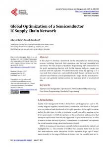 Global Optimization of a Semiconductor IC Supply Chain Network
