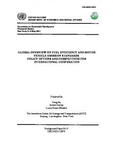 global overview on fuel efficiency and motor vehicle emission