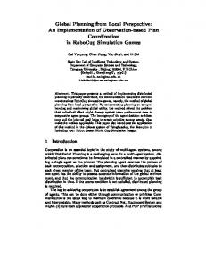 Global Planning from Local Perspective: An ... - UCF EECS