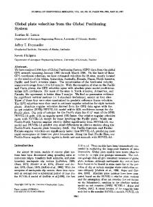 Global plate velocities from the Global ... - Wiley Online Library