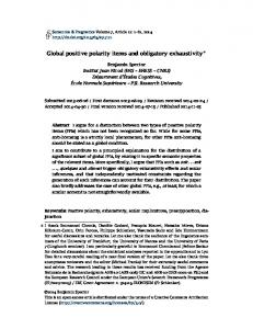 Global positive polarity items and obligatory exhaustivity
