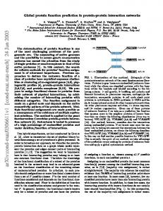 Global protein function prediction in protein-protein interaction networks