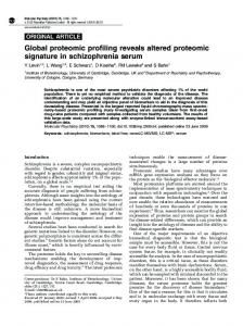 Global proteomic profiling reveals altered ... - Semantic Scholar