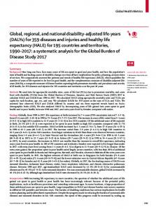 Global, regional, and national disability-adjusted life-years - The Lancet