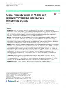 Global research trends of Middle East respiratory ... - Semantic Scholar