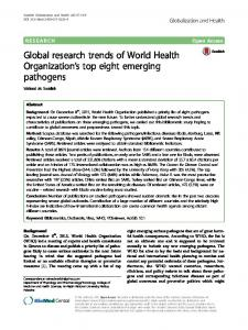 Global research trends of World Health ... - Semantic Scholar
