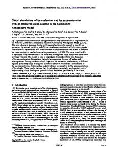 Global simulations of ice nucleation and ice supersaturation with an ...