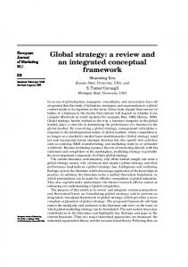 Global strategy - Trulaske College of Business