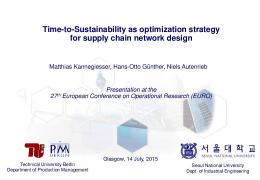 Global Supply Chain Sustainability Optimization in ...