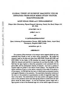 GLOBAL TWIST OF SUNSPOT MAGNETIC FIELDS OBTAINED FROM ...