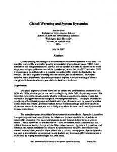 Global Warming and System Dynamics