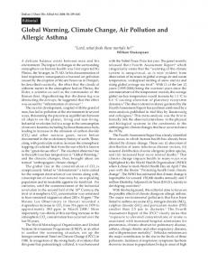 Global Warming, Climate Change, Air Pollution and Allergic ... - medIND