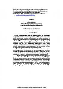 Globalisation of Transboundary Environmental Impact ... - SSRN papers