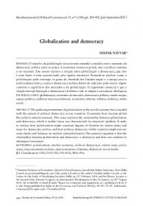 Globalization and democracy - SciELO