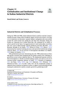 Globalization and Institutional Change in Italian ...