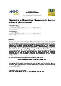 Globalization and International Management - SciELO