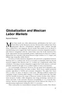 Globalization and Mexican Labor Markets - CiteSeerX