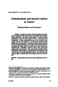 Globalization and Social Conflict in China