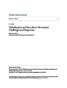 Globalization and the Labour Movement: Challenges ...