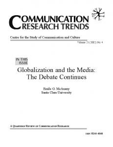 Globalization and the Media: The Debate Continues