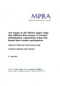 Globalization, conservative values and female labor mar