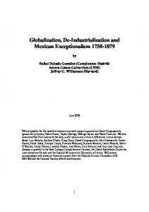 Globalization, De-Industrialization and Mexican Exceptionalism 1750