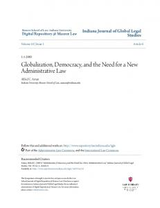 Globalization, Democracy, and the Need for a New ...