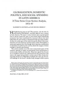 Globalization, Domestic Politics, and Social Spending in Latin America ...