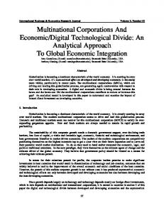 Globalization, Expanding markets and Technological ...