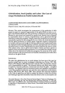 Globalization, Food Quality and Labor - International Journal of ...
