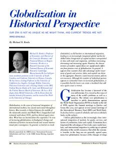 Globalization in Historical Perspective