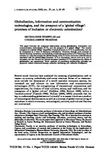 Globalization, information and communication technologies, and the ...