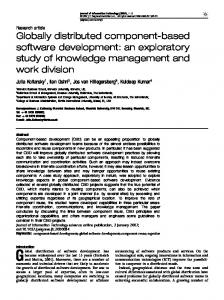 Globally distributed component-based software ... - Semantic Scholar