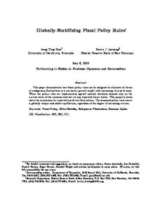 Globally-Stabilizing Fiscal Policy Rules - Semantic Scholar