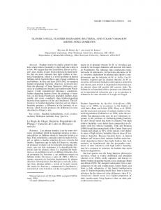 Gloger's Rule, feather-degrading bacteria, and color variation among ...