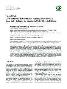 Glomerular and Tubular Renal Function after Repeated Once-Daily ...