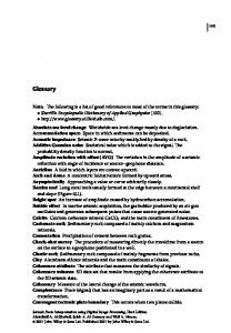 Glossary - Wiley Online Library