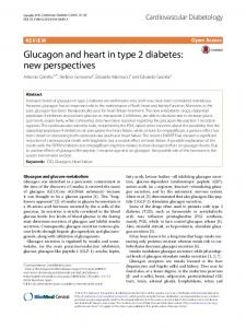 Glucagon and heart in type 2 diabetes: new ... - Semantic Scholar