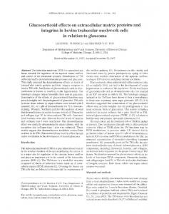 Glucocorticoid effects on extracellular matrix proteins and integrins in ...