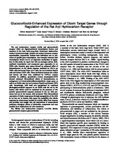 Glucocorticoid-Enhanced Expression of Dioxin ... - Oxford Journals