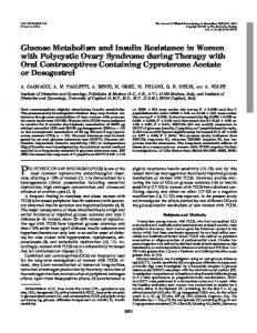 Glucose Metabolism and Insulin Resistance in Women with Polycystic ...