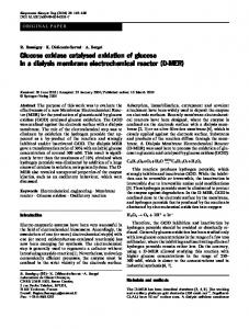 Glucose oxidase catalysed oxidation of glucose in a dialysis ...