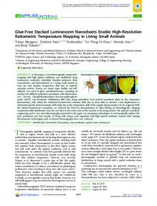 Glue-Free Stacked Luminescent Nanosheets ... - ACS Publications