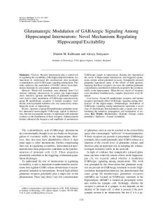 Glutamatergic Modulation of GABAergic ... - Wiley Online Library