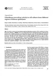 Glutathione peroxidase activity in cell cultures from